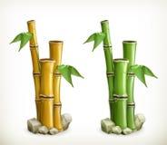 Bamboe vectorpictogrammen stock illustratie