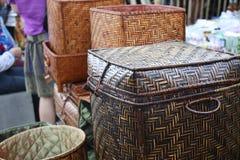 Bamboedoos stock foto