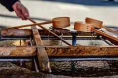 Bamboegietlepels Royalty-vrije Stock Afbeelding