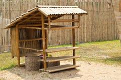Bamboehut. Stock Foto's