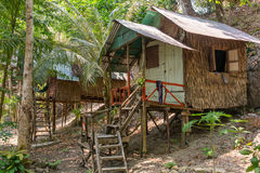 Bamboehut op Koh Chang-eiland Stock Afbeelding