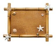 Bamboekader op witte achtergrond wordt geïsoleerd die Royalty-vrije Stock Foto