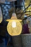 Bamboelamp stock afbeelding