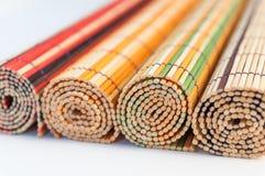 Bamboematten stock fotografie