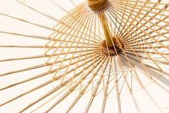 Bamboeparaplu Stock Afbeelding