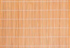 Bamboeservet, doek, stokken of mattextuur voor achtergrond Royalty-vrije Stock Afbeelding