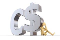 Bambola al simbolo del dollaro canadese Fotografie Stock Libere da Diritti