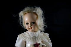 Bambola antica del primo piano Fotografie Stock