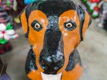 Bambola brutta del cane nero Fotografie Stock Libere da Diritti