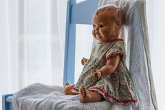 Bambola ceramica d'annata Fotografia Stock