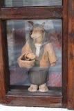 Bambola d'annata della capra Immagine Stock