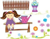 Bambola del giardino Immagine Stock