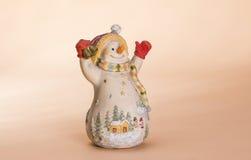 Bambola del pupazzo di neve di Natale Fotografia Stock