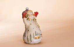 Bambola del pupazzo di neve di Natale Fotografia Stock Libera da Diritti