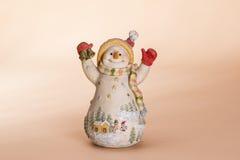 Bambola del pupazzo di neve di Natale Immagini Stock
