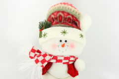 Bambola del pupazzo di neve di natale immagini stock libere da diritti