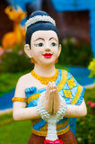 Bambola dell'argilla di Sawasdee Fotografia Stock