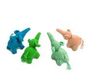 Bambola dell'elefante dal tricottare lana fotografie stock libere da diritti