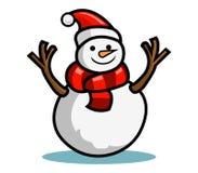 Bambola della neve royalty illustrazione gratis
