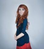 Bambola della testarossa Fotografie Stock
