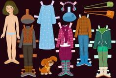 Bambola di carta Immagini Stock Libere da Diritti