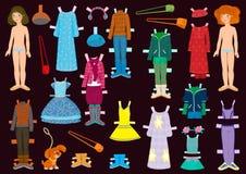 Bambola di carta Fotografia Stock