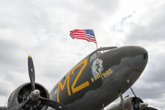 Bambola di d-day di Douglas C-53 Skytrooper su esposizione Fotografia Stock