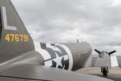Bambola di d-day di Douglas C-53 Skytrooper su esposizione Fotografia Stock Libera da Diritti