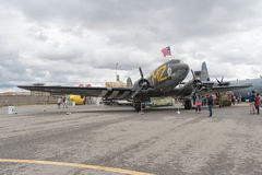 Bambola di d-day di Douglas C-53 Skytrooper su esposizione Immagine Stock Libera da Diritti
