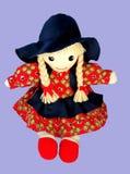 Bambola di giorno del biglietto di S. Valentino Fotografia Stock Libera da Diritti