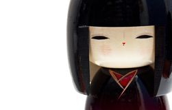 Bambola di Kokeshi Fotografia Stock