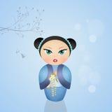 Bambola di Kokeshi Immagine Stock Libera da Diritti