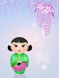 Bambola di Kokeshi Immagine Stock