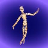 Bambola di legno del manichino illustrazione vettoriale