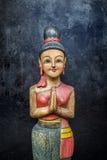 Bambola di legno di Sawasdee Fotografia Stock