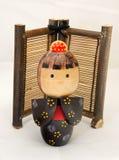 Bambola di legno giapponese Immagine Stock Libera da Diritti