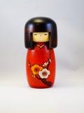 Bambola di legno giapponese Immagine Stock
