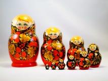 Bambola di legno russa Matreshka Fotografia Stock
