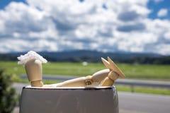 Bambola di legno in stazione termale Fotografia Stock Libera da Diritti