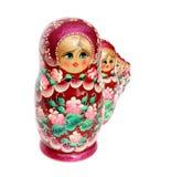 Bambola di Matreshka isolata su bianco Immagine Stock