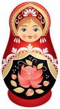 Bambola di Matryoshka in Kokoshnik Fotografia Stock Libera da Diritti