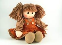 Bambola di panno, bambola del tessuto Fotografia Stock Libera da Diritti