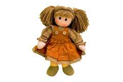 Bambola di panno, bambola del tessuto Immagine Stock