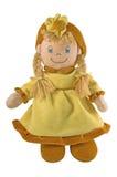 Bambola di panno, bambola del tessuto Fotografie Stock