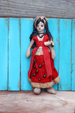 Bambola di pezza messicana d'annata della ragazza Fotografia Stock Libera da Diritti