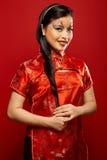 Bambola di plastica asiatica Fotografia Stock