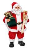 Bambola di Santa Claus con i presente e la lista di nome Immagini Stock Libere da Diritti