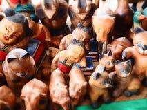 Bambola di scultura di legno Immagini Stock Libere da Diritti
