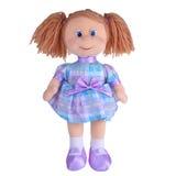 Bambola di straccio del giocattolo Fotografia Stock