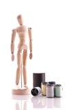 Bambola e filato di arte Immagini Stock
